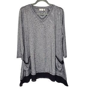 LOGO Lori Goldstein Oversized Tunic Top, Lg